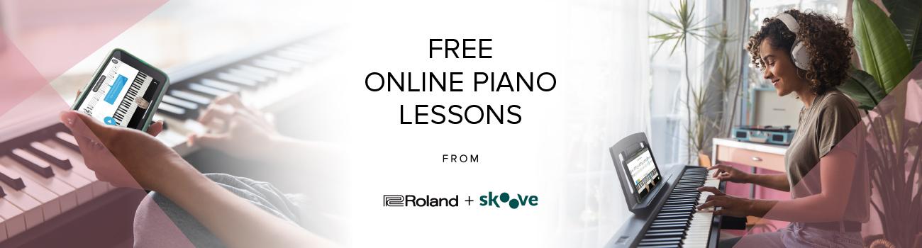 Gratis Pianolektioner Online Med Roland/Skoove