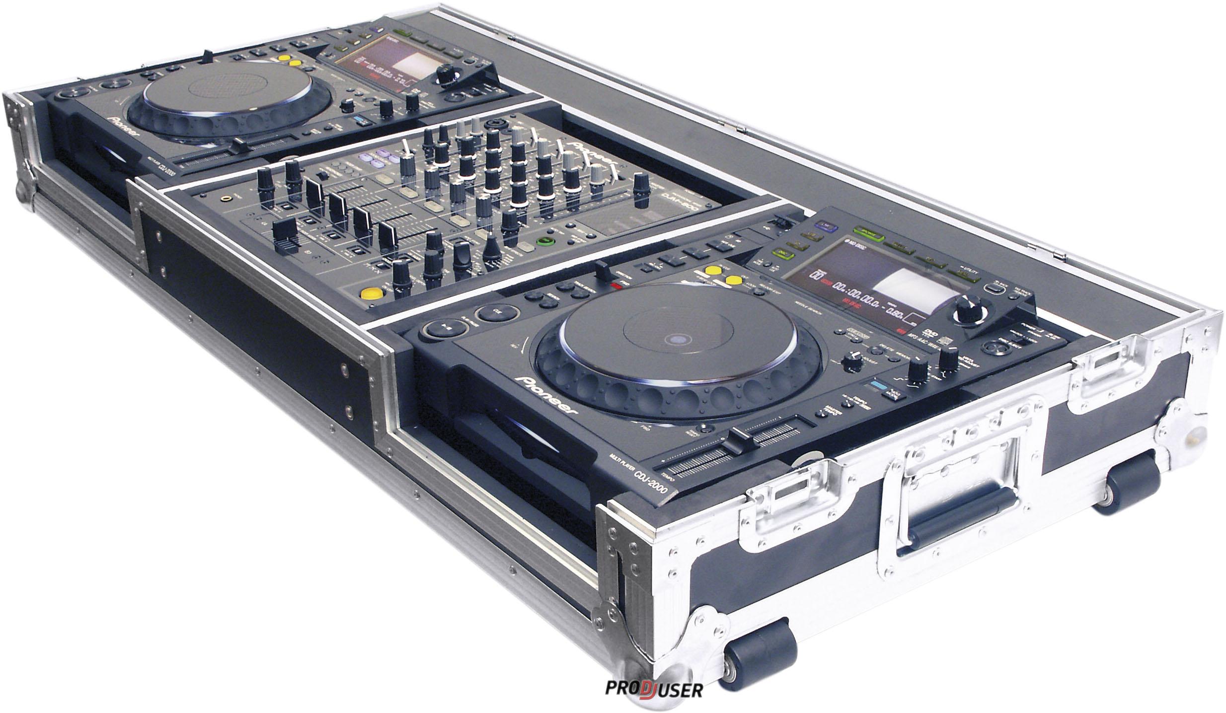 2 x CDJ-850 + DJM-750 + Flightcase