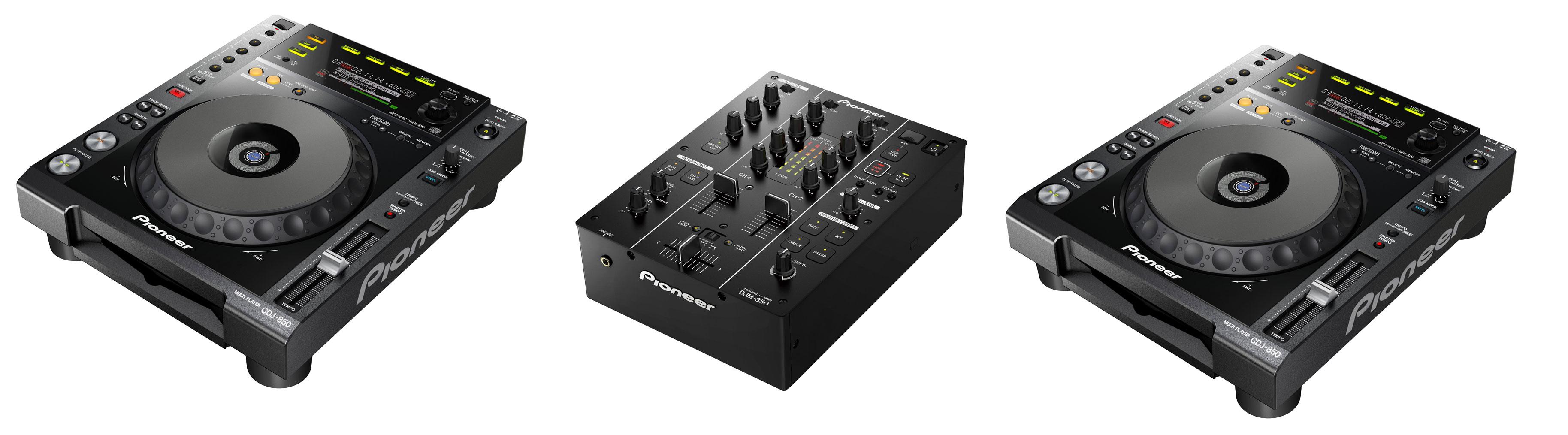 Pioneer DJ 2 x CDJ-850 + DJM-350