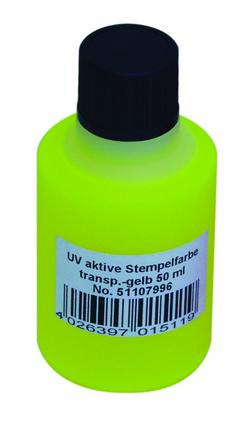 Noname UV-active stamp ink, transp. yellow