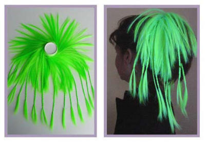 Noname UV Hair Wrap with Braids Green [2 pcs left]