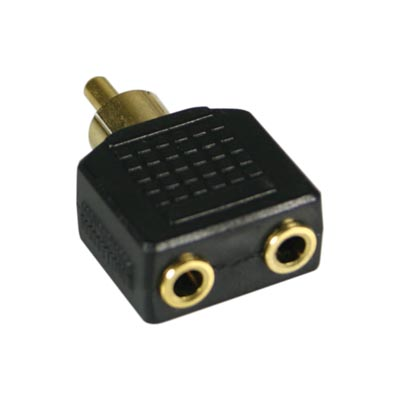 Adapter 2x3.5mm Fe > 1xRCA Ma
