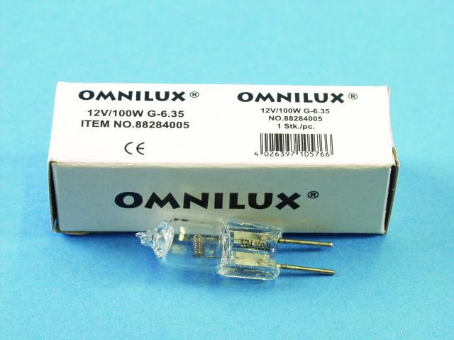 Omnilux 12V/100W FCR G-6.35 2000h 2900K