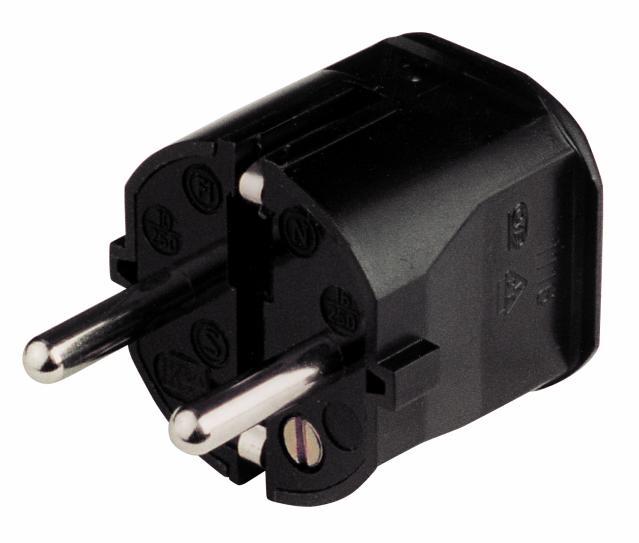 Noname Black plastic electric plug