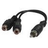 Cable 1xRCA Ma > 2xRCA Fe Y-Split 0,15m