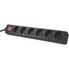GT-123 6-way Powerstrip Black