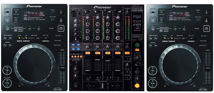 Pioneer 2 x CDJ-350 + DJM-850
