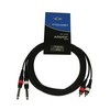 Accu-Cable 2x6.3mm Ma > 2xRCA Ma 1,5m