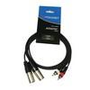 Accu-Cable 2xXLR Ma > 2xRCA Ma 1,5m