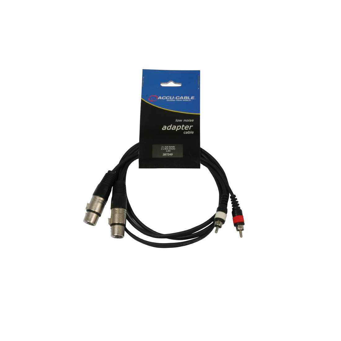 Accu-Cable 2xXLR Fe > 2xRCA Ma 1,5m