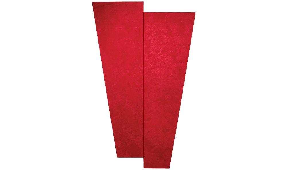 Auralex SonoSuede Trapezoid Panel Red (Left)