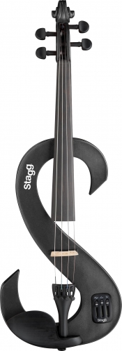 Stagg Electric Violin Metallic Black