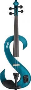 Electric Violin Metallic Blue