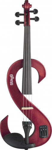 Stagg Electric Violin Metallic Red