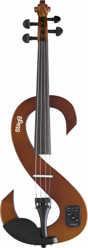 Stagg Electric Violin Transparent Violin Burst
