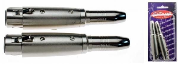 Stagg XLR Fe > 6.3mm Fe ST [2-pack]