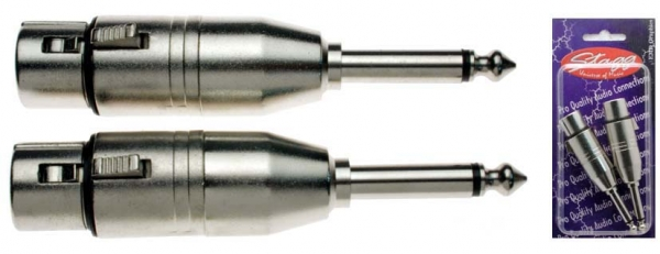 Stagg XLR Fe > 6.3mm Ma MO [2-pack]