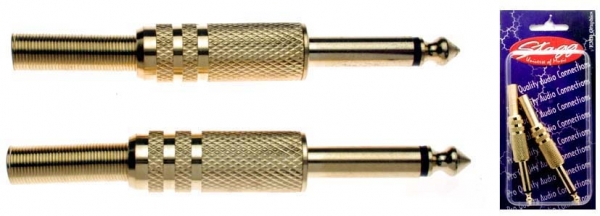 Stagg 6.3mm Ma MO Jack Plug [2-pack]