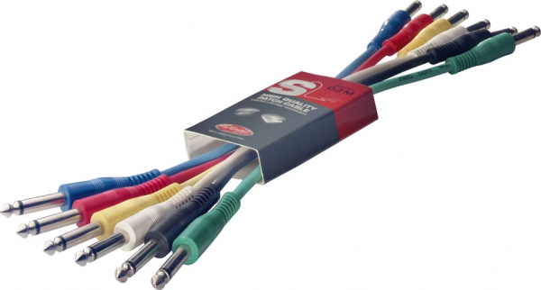 Stagg Patch Cable MO 6-pack 30cm