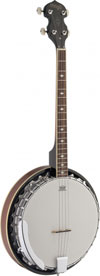 Stagg 4-Str Banjo-30 Hooks-Metal Pot