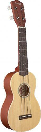 Stagg Soprano Ukulele-Sld Cedar-Maho