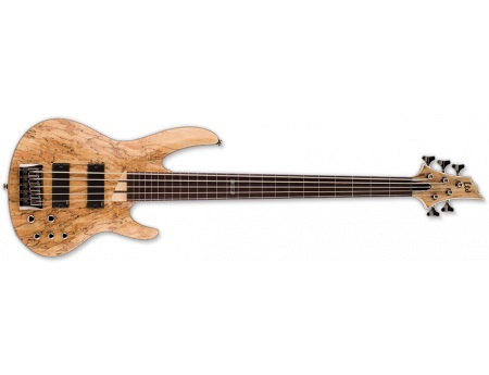 LTD B-204 SPALTED MAPLE FRETLESS NS