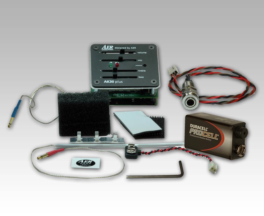 AER AK 30+ Piezo/Cond pickupsystem