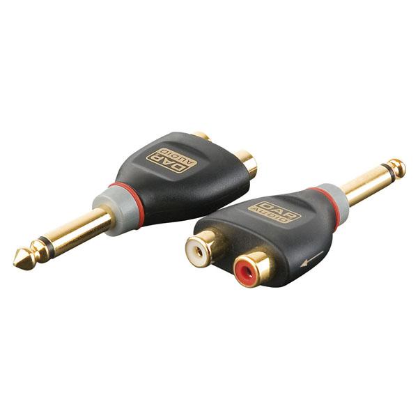 DAP Audio 6.3mm Ma MO > 2 x RCA Fe [XGA19]