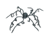 Halloween Spider, animated, 110x8cm