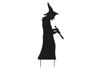 Silhouette Metal Witch with Spoon, 110cm