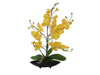 Orchid arrangement (EVA), artificial, yellow