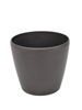 Deco cachepot LUNA-33, round, espresso