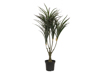 Dracena, green-red, artificial, 90cm