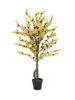 Forsythia tree with 3 trunks, artificial plant, yellow, 120cm