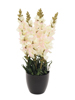 Antirrhinum, artificial plant, white, 65cm
