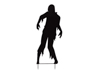 Europalms Silhouette Metal Zombie Man, 135cm