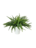 Fern bush in pot, artificial plant, 62 leaves, 48cm