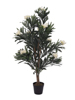 Oleander tree, artificial plant, white, 120 cm