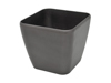 Deco pot LUNA-33, rectangular,espresso