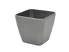 Deco pot LUNA-33, rectangular, silver