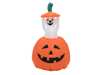 Inflatable Figure Pumpkin with Ghost, animated, 120cm