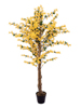 Forsythia tree with 3 trunks, artificial plant, yellow, 150cm
