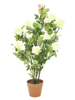 Rose shrub, artificial, cream, 86cm