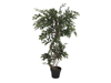 Europalms Ficus multiple spiral trunk, artificial plant, green, 130cm