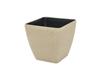 Deco cachepot STONA-47, rectangular,beige