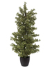 Europalms Wood ficus silver leaf, artificial, 120cm