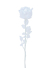 Crystal rose, clear, artificial flower, 81cm 12x