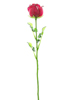 Crystal rose, burgundy, artificial flower, 81cm 12x