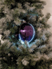 LED Snowball 8cm, purple 5x