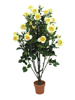 Rose shrub, artificial, light-yellow, 140cm